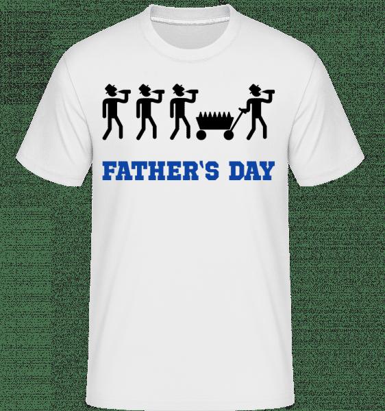 Father's Day -  Shirtinator tričko pro pány - Bílá - Napřed