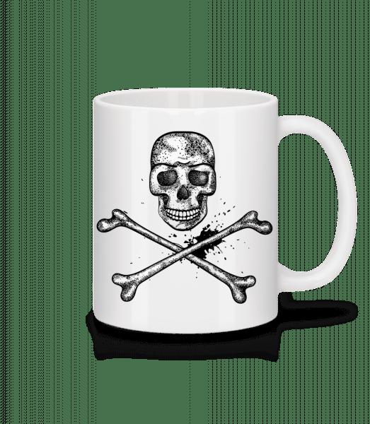 Skull Comic - Mug - White - Vorn