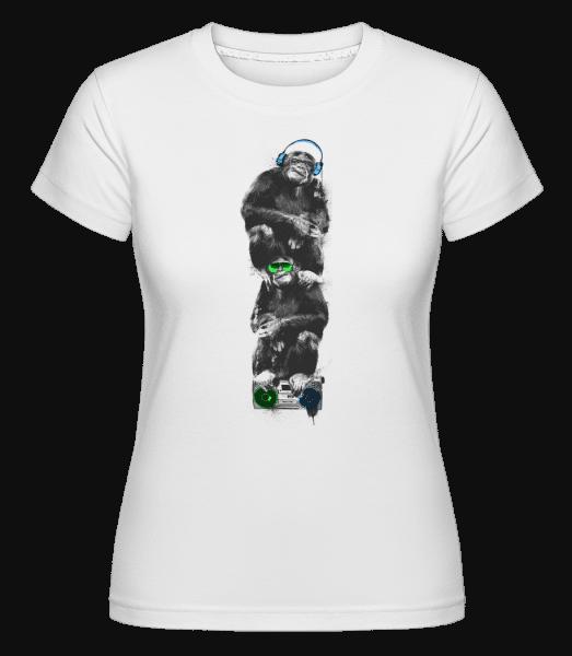 Music Monkeys -  Shirtinator Women's T-Shirt - White - Vorn