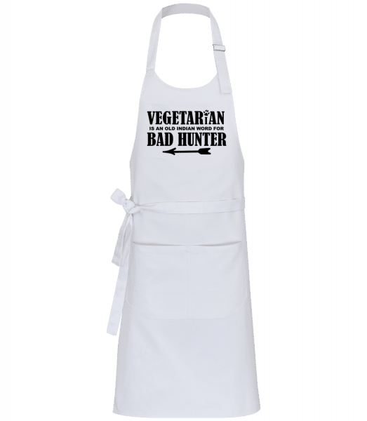 Vegetarian Bad Hunter - Professional Apron - White - Vorn