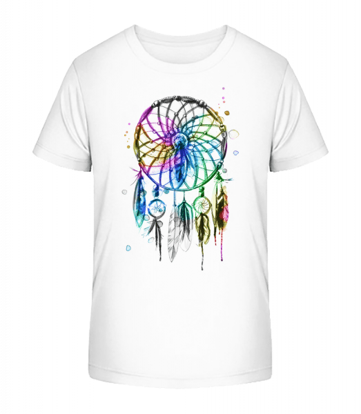 Mystical Dream Catcher - Kid's Premium Bio T-Shirt - White - Front