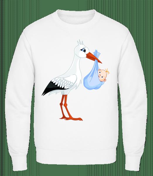 Stork Brings Baby - Classic Set-In Sweatshirt - White - Vorn