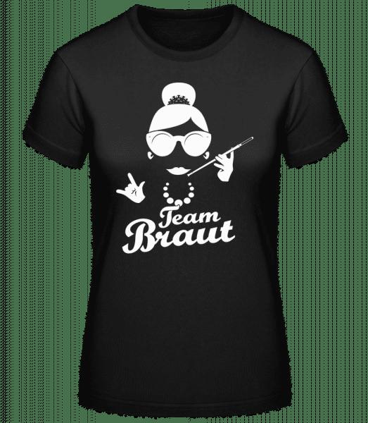 Team Braut - Basic T-Shirt - Schwarz - Vorn