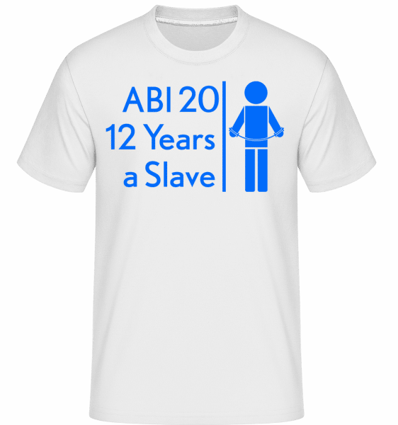 Abi 20 Slave -  Shirtinator Men's T-Shirt - White - Front