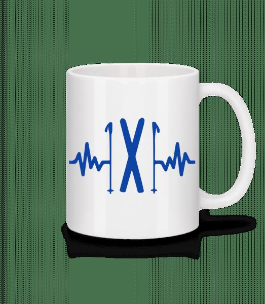 Ski Heartbeat - Mug - White - Vorn
