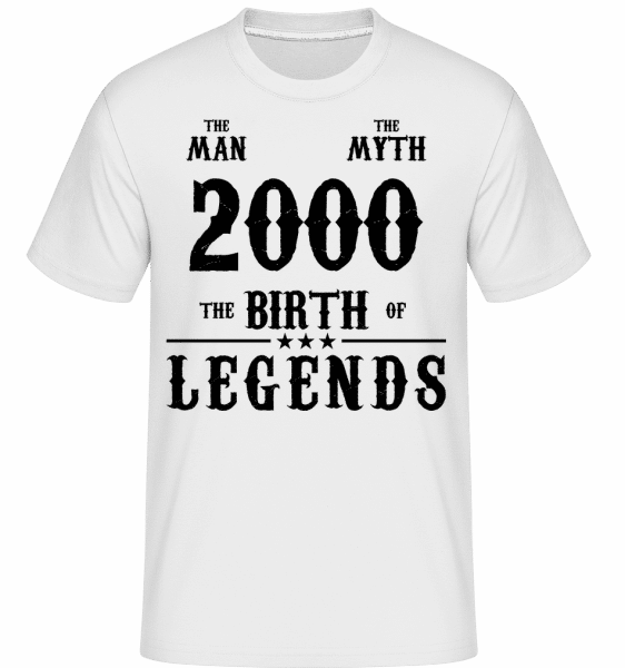 The Myth 2000 -  Shirtinator Men's T-Shirt - White - Vorn