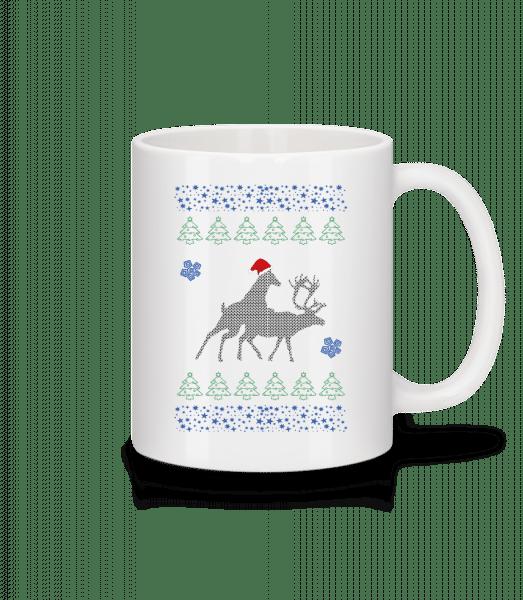 Reindeer Party - Mug - White - Vorn