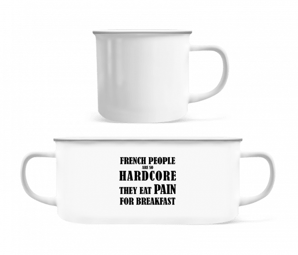 French People Eat Pain For Breakfast - Enamel-cup - White - Vorn