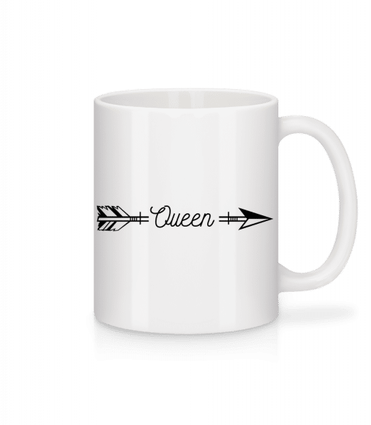 Queen Arrow - Mug - White - Vorn