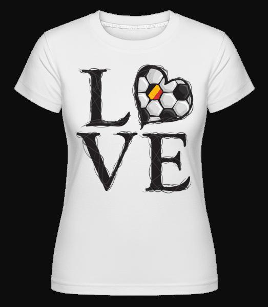 Football Love Belgium -  Shirtinator Women's T-Shirt - White - Vorn