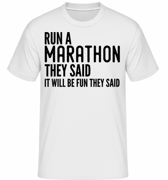 Run A Marathon -  Shirtinator Men's T-Shirt - White - Front