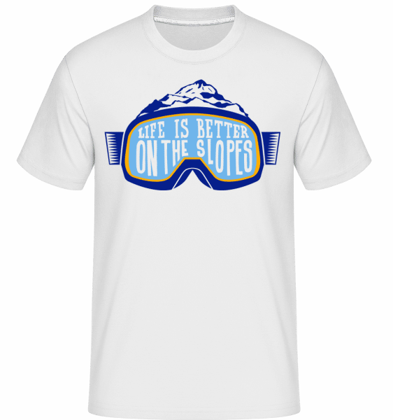 Life Is Better On The Slopes -  Shirtinator Men's T-Shirt - White - Vorn