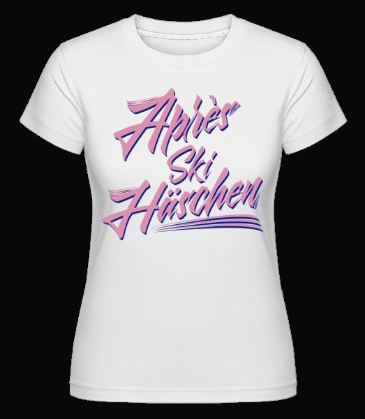 Apres Ski Häschen - Shirtinator Frauen T-Shirt - Weiß - Vorn