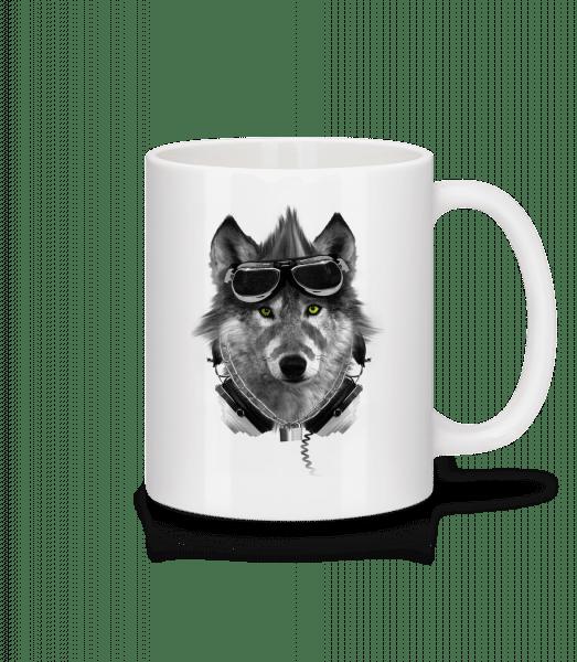 Biker Wolf - Mug - White - Vorn