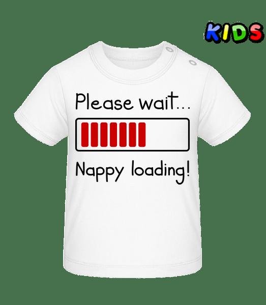 Nappy Loading! - Baby T-Shirt - White - Vorn