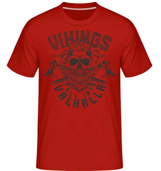 Fall Into Valhalla -  Shirtinator Men's T-Shirt - Red - Front