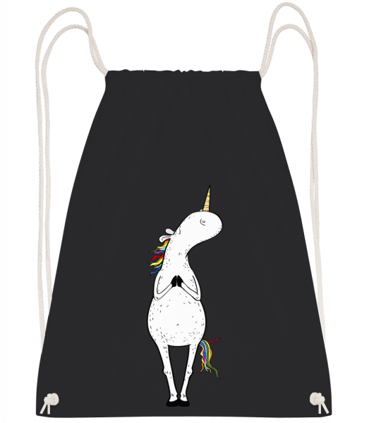 Yoga Unicorn The Tree - Drawstring Backpack - Black - Vorn