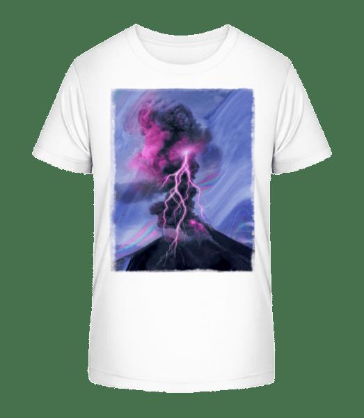 Neon Thunderstorm - Kid's Premium Bio T-Shirt - White - Vorn