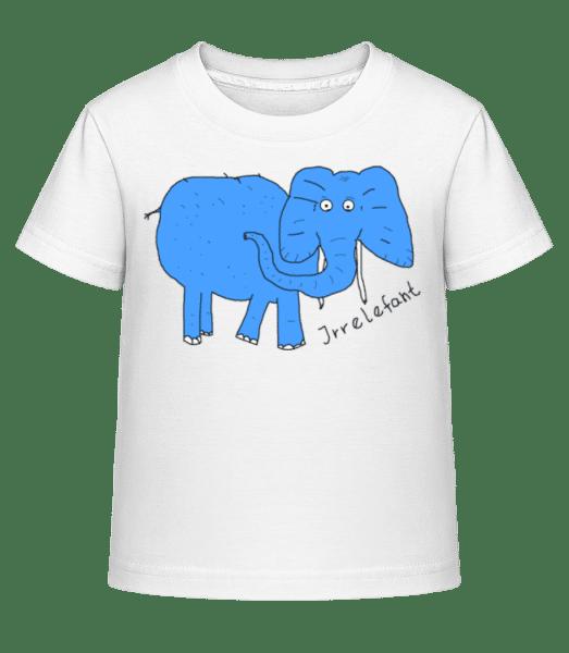 Irrelefant - Kinder Shirtinator T-Shirt - Weiß - Vorn