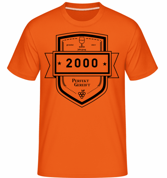 Perfekt Gereift 2000 - Shirtinator Männer T-Shirt - Orange - Vorn