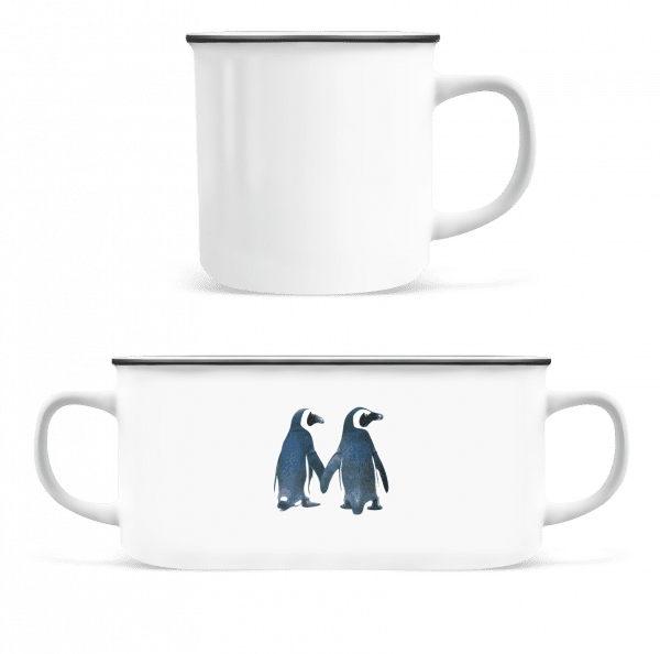 Penguin Couple - Enamel-cup - White - Front