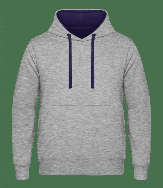 Unisex mikina kontrastná - Melírovo sivá - Predné