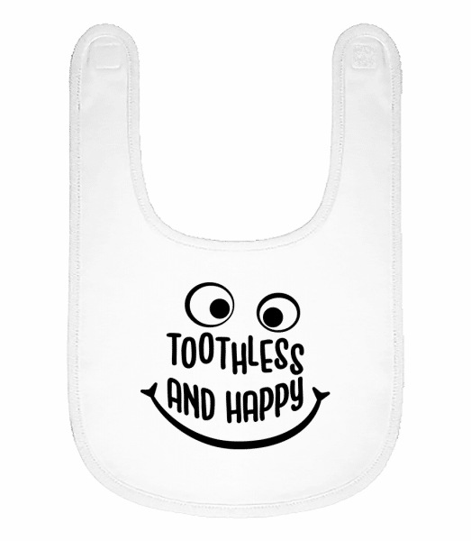 Toothless And Happy - Baby Bib - White - Vorn