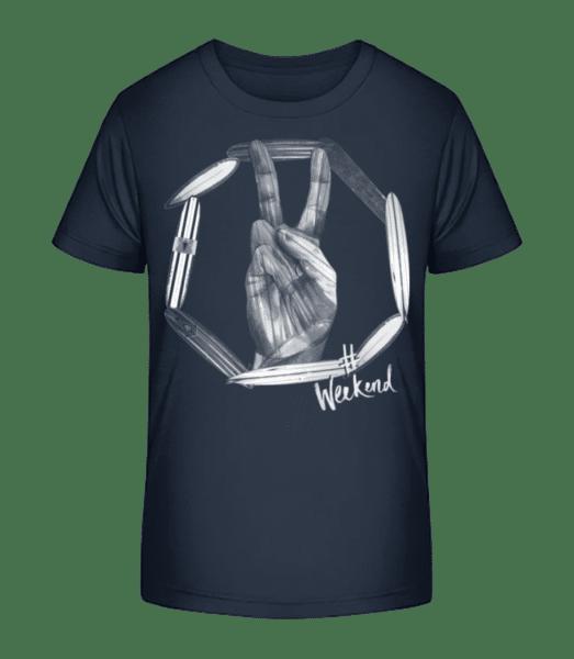 Weekend Peace - Kid's Premium Bio T-Shirt - Navy - Vorn