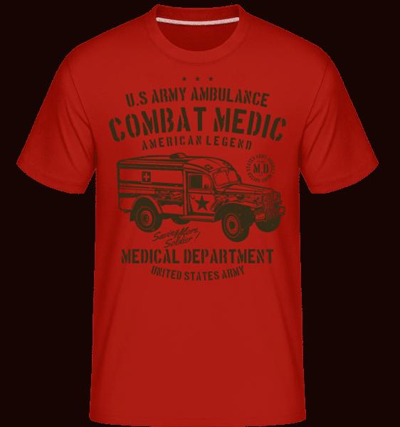 US Army Ambulance -  Shirtinator Men's T-Shirt - Red - Vorn