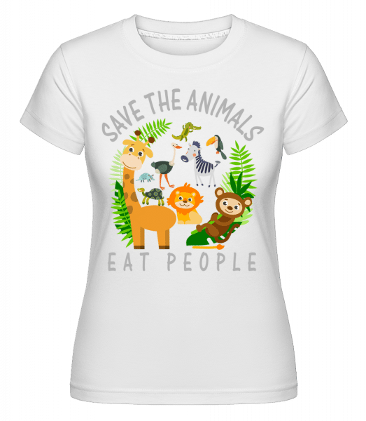 Save The Animals - Shirtinator Frauen T-Shirt - Weiß - Vorn