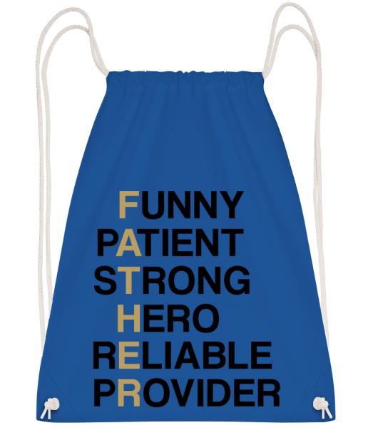 FATHER - Definition - Turnbeutel - Royalblau - Vorn