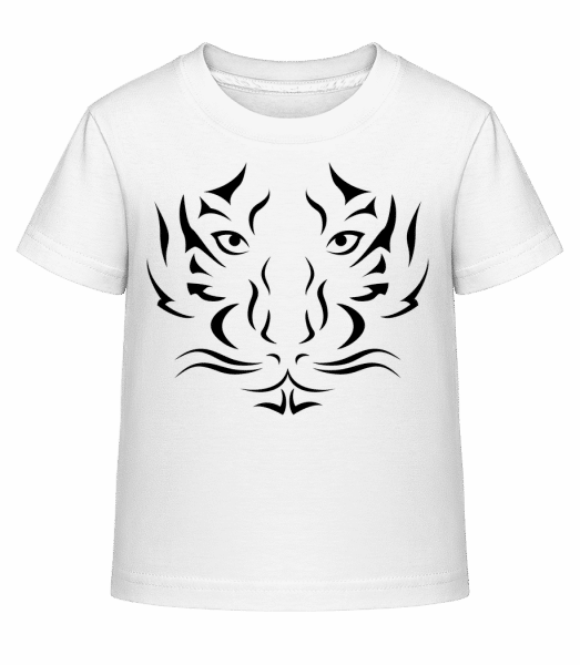 Tiger Head - Kid's Shirtinator T-Shirt - White - Vorn