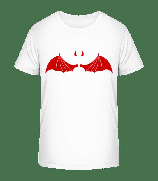 Devil Equipment - Kid's Premium Bio T-Shirt - White - Vorn