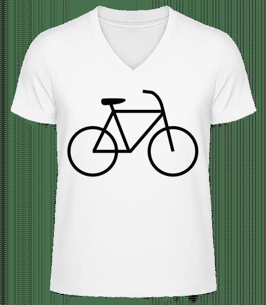 Vélo - T-shirt bio col en V Homme - Blanc - Vorn