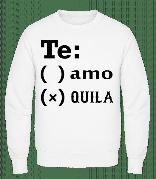 Te Amo Tequila - Classic Set-In Sweatshirt - White - Vorn