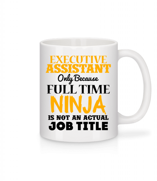 Ninja Executive Assistant - Tasse - Weiß - Vorn