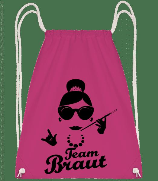 Team Braut - Turnbeutel - Magenta - Vorn