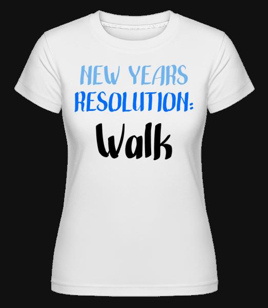 New Years Resolution Walk -  Shirtinator Women's T-Shirt - White - Vorn