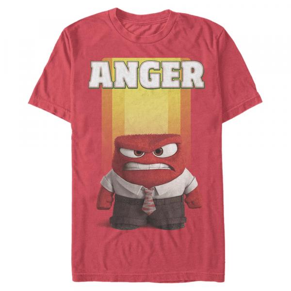 Anger - Pixar Inside Out - Men's T-Shirt - Red - Front