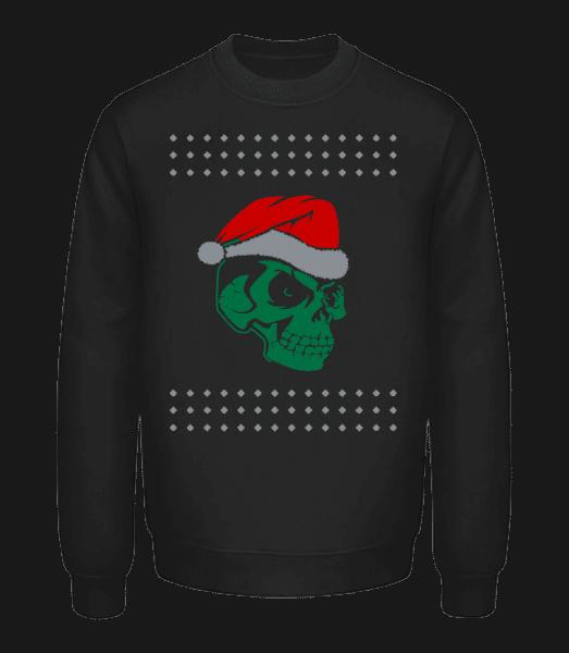 Skull Santa - Sweatshirt Unisexe - Noir - Vorn
