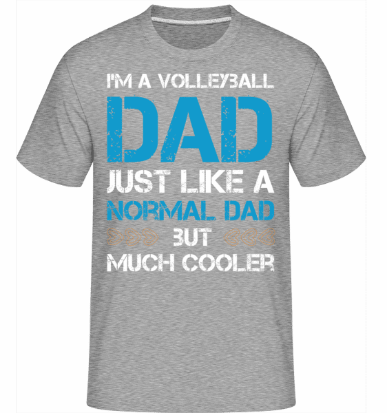 Volleyball Dad -  Shirtinator Men's T-Shirt - Heather grey - Vorn