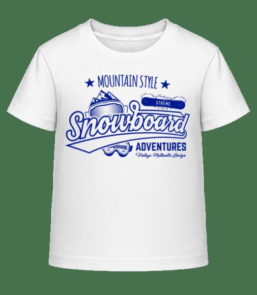 Snowboarding Mountain Style Logo - Kid's Shirtinator T-Shirt - White - Vorn