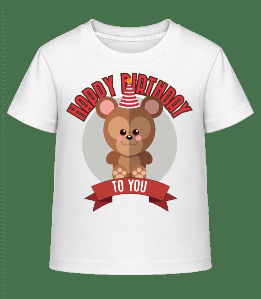 Happy Birthday To You Monkey - Kid's Shirtinator T-Shirt - White - Vorn