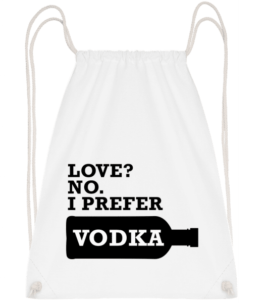I Prefer Vodka - Sac à dos Drawstring - Blanc - Vorn