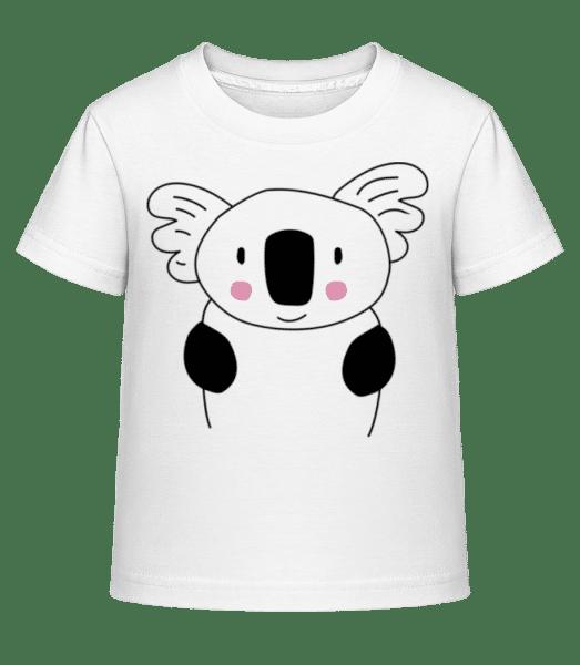 Cute Koala - Detské Shirtinator tričko - Biela - Predné