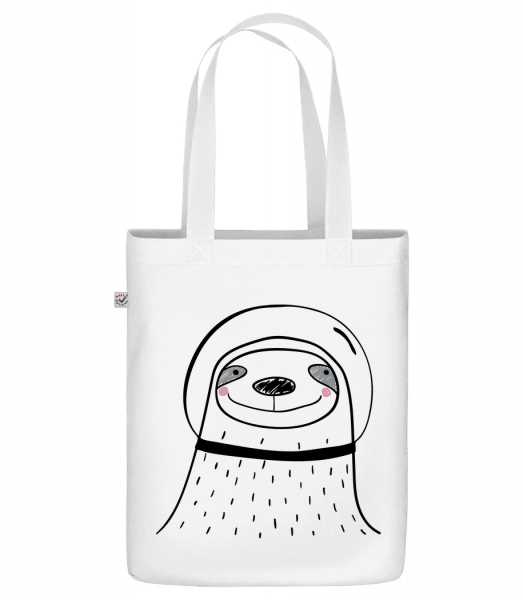 """Space Faultier - Organic """"Earth Positive"""" tote bag - White - Vorn"""