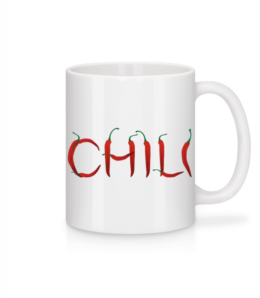 chili - Keramický hrnek - Bílá - Napřed