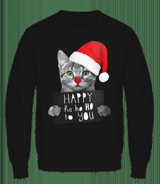 Happy Ho Ho Ho To You - Men's Sweatshirt AWDis - Black - Vorn