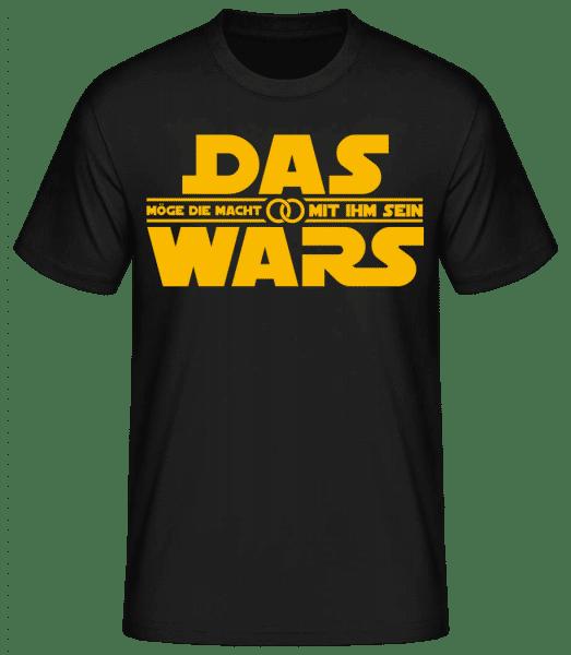 Das Wars Möge Die Macht Mit Ihm Sein - Männer Basic T-Shirt - Schwarz - Vorn