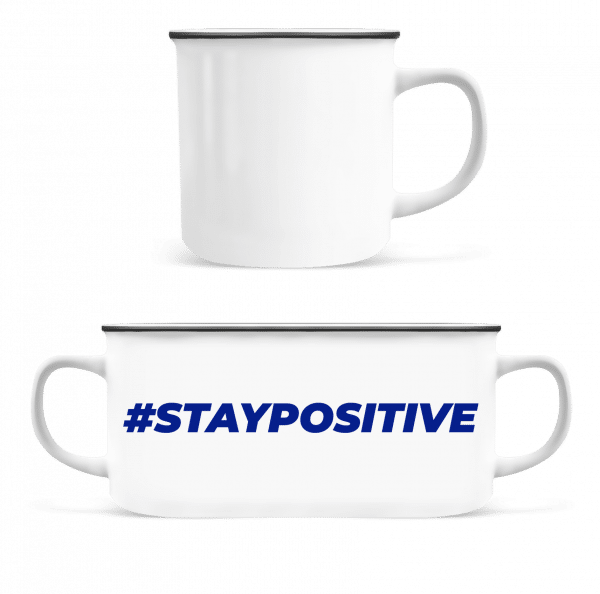 Staypositive - Enamel-cup - White - Vorn